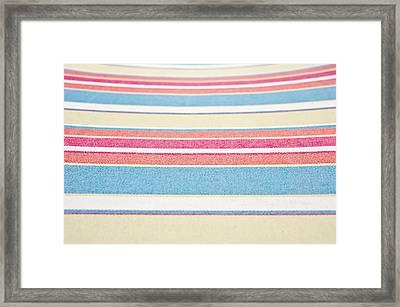 Striped Fabric Framed Print