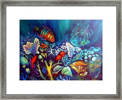 Striped Fish Framed Print