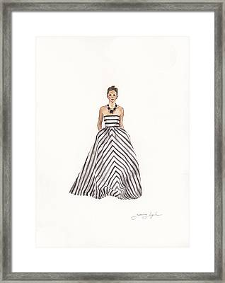 Striped Glamour Framed Print by Jazmin Angeles