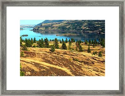 Striped Gorge Framed Print by Mamie Gunning