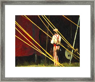 Striped Pants Framed Print by Spyder Webb