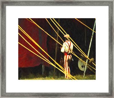 Striped Pants Framed Print