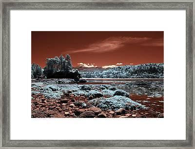 Striped Peak Framed Print by Rebecca Parker