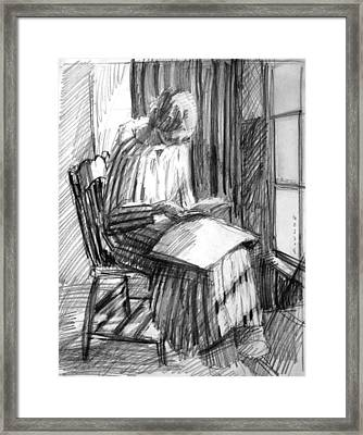 Striped Robe Framed Print by Mark Lunde