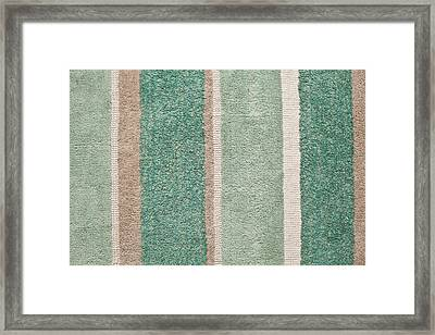 Striped Rug  Framed Print by Tom Gowanlock