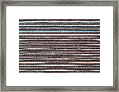 Striped Scarf Framed Print