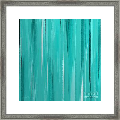 Stripes 2 Abstract Square Framed Print