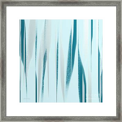 Stripes 9 Abstract Square Framed Print by Andee Design
