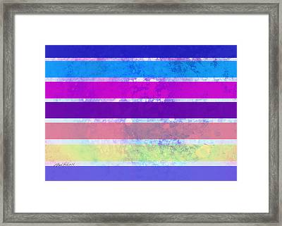 Stripes Abstract Art Framed Print by Ann Powell