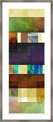 Stripes And Squares - Abstract -art Framed Print by Ann Powell