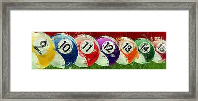Stripes Billiards Abstract Framed Print