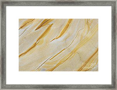 Stripes In Stone Framed Print by Tim Gainey