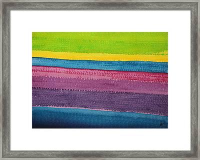Stripes Original Painting Framed Print