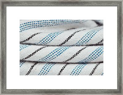 Stripey Material Framed Print