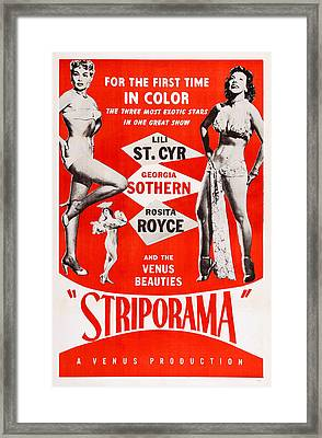 Striporama, Us Poster, From Left Lili Framed Print