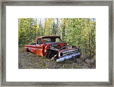 Framed Print featuring the photograph Stripped Chevy by Cathy Mahnke