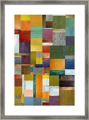 Strips And Pieces V Framed Print by Michelle Calkins