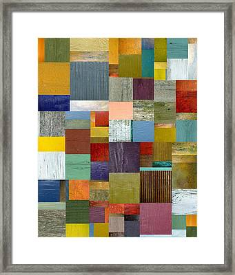 Strips And Pieces Vl Framed Print by Michelle Calkins