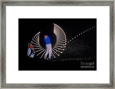 Stroboscopic Golf Swing Framed Print by Michel Hans Vandystadt