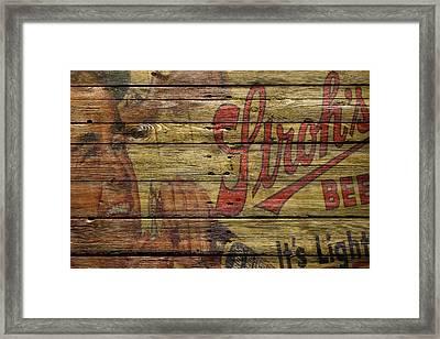 Strohs Beer Framed Print by Joe Hamilton