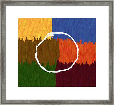 Strokes Of Colour Framed Print by Condor