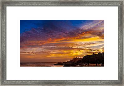 Strokes Of Sunset I Framed Print by Marco Oliveira