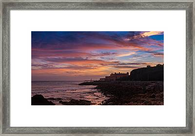 Strokes Of Sunset II Framed Print by Marco Oliveira