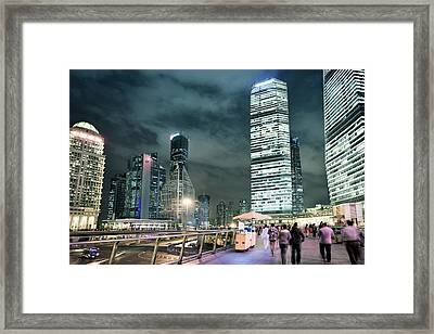 Stroll At Mid-level Shanghai Framed Print by Andy Brandl