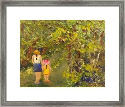Strollin Framed Print by Annie St Martin
