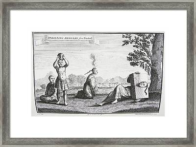 Strolling Beggars Framed Print by British Library