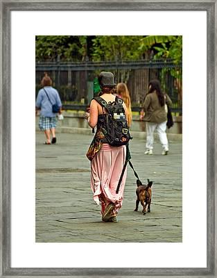 Strolling In Jackson Square Framed Print by Steve Harrington