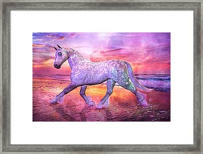 Strolling In Paradise Framed Print