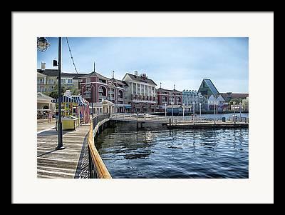 Walt Disney Boardwalk Framed Prints