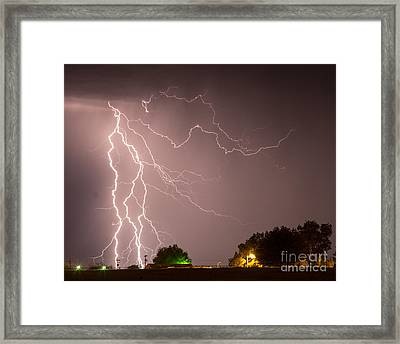 Strom At The Farm Framed Print