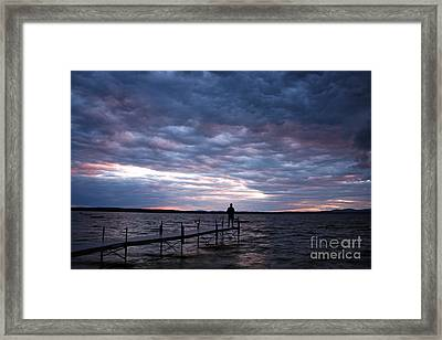 Strom Watch Sebago Lake Framed Print by Butch Lombardi