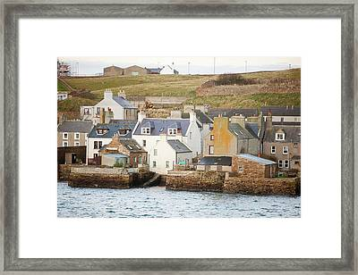 Stromness Town And Harbour  Framed Print by Ashley Cooper