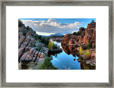 Strong And Peaceful Framed Print by Thomas  Todd