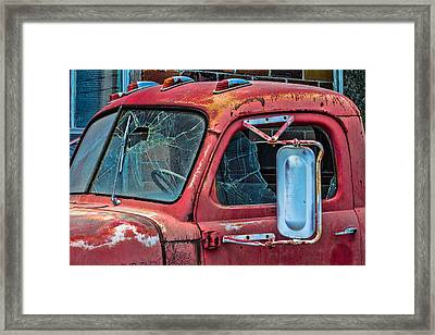 Framed Print featuring the photograph Strong City Red by Steven Bateson