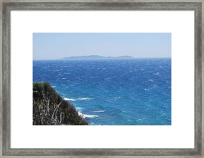 Framed Print featuring the photograph Strong Mistral by George Katechis