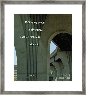 Framed Print featuring the photograph Strong Support by Christina Verdgeline