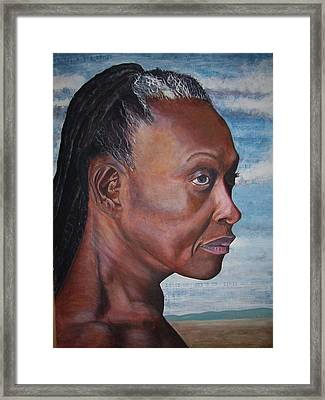 Strong Woman Framed Print by Linda Vaughon