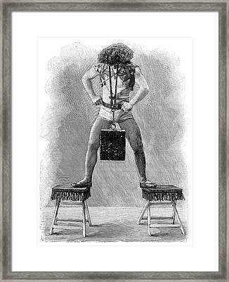 Strongman Framed Print by Science Photo Library