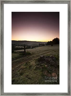 Stroud Sunrise Framed Print