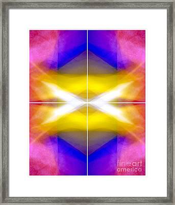 Structural Elements - Polytych  Framed Print by Douglas Taylor