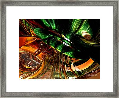 Structural Havoc Abstract Framed Print