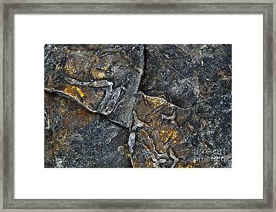 Structural Stone Surface Framed Print