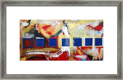 Structure No 6 Framed Print by Walter Fahmy