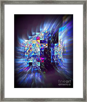 Structured Caous Framed Print