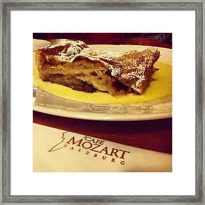 #strudel Di Mele Con Salsa Di #vaniglia Framed Print
