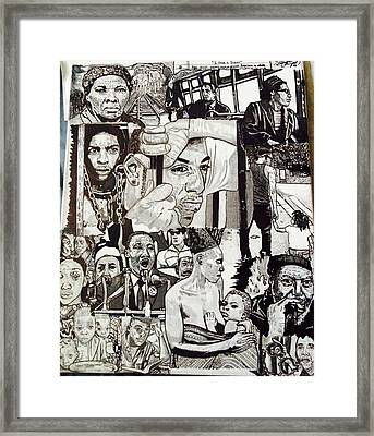 Struggle Thou Art Forgiven Framed Print by Demetrius Washington
